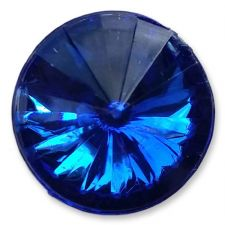 14mm ELECTRIC BLUE Round Acrylic Embellishment Gems